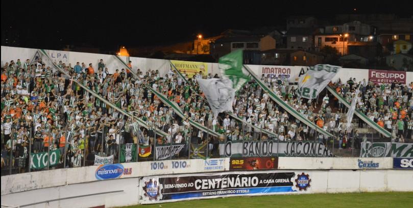 Torcidas Mancha Verde e Loucos da Papada lado a lado pelo Ju. (Foto: Lucas Gabriel Cardoso)