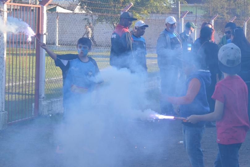 Gurizada fez a festa com a classificação. (Foto: Lucas Gabriel Cardoso)