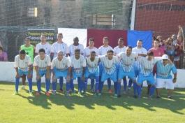 A equipe da casa começou com Ibraim; Renato Gil, Alex, André e Lipe; Gabriel Rodrigues, Ivandro, Índio e Gabi; Vitinho e Carlão. (Foto: Lucas Gabriel Cardoso)