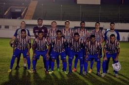 Yan; Mota, Fonseca, Batisttella e Kevin; Jardel, Guilherme, Wendryl e Mattana; Léo Dias e Enrico. (Foto: Lucas Gabriel Cardoso)