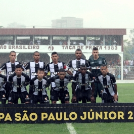 O Figueira saiu jogando com Vitor Caetano; Sidney, Guilherme, Felipe e Jonathan; Jean, Pedrinho e Patrick; Igor, Luiz Fernando e Walison. (Foto: Lucas Gabriel Cardoso)